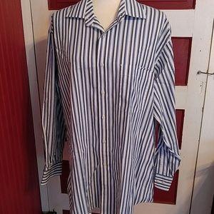 Tommy Hilfiger Blue Stripe Button Shirt 16 or L